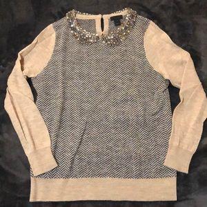 J.Crew Collection alpaca jeweled sweater holiday